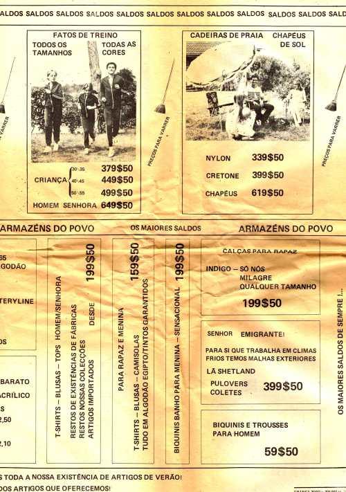 e92a58ba5 COLECÇÃO DE PUBLICIDADE – ARMAZÉNS DO POVO – EPHEMERA – Biblioteca e ...