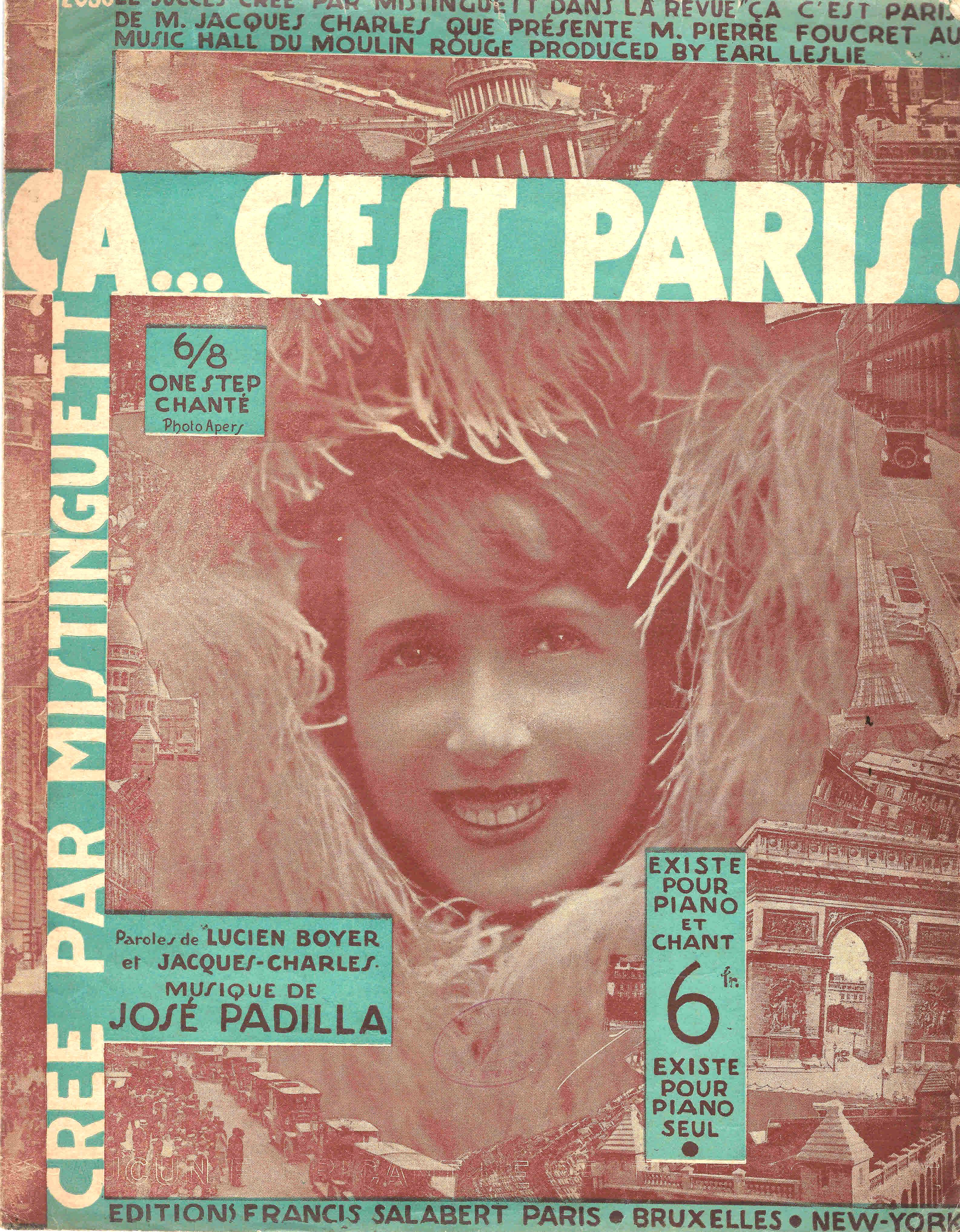 49b181d425 O NOSSO PRESENTE DE NATAL – DEZ CAPAS NOTÁVEIS DE PARTITURAS E AS SUAS  MÚSICAS – (3) ÇA C EST PARIS! (1927)